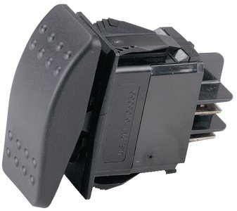 Ancor 554024 Marine Grade Electrical Sealed Rocker Switch With Light (Single Pole/Single Throw, Constant On / Constant Off)