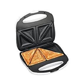 New Hamilton Beach Proctor Silex Sandwich Toaster Nonstick Easy-Clean Indented Grids Preheat Lights