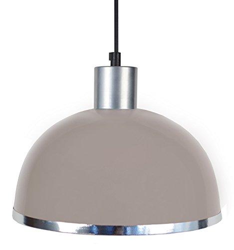 tosel-15561-demi-boule-c-suspension-tole-acier-repousse-peinture-epoxy-pvc-chrome-taupe-245-x-900-mm