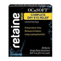 OCuSOFT Retaine MGD Complete Dry Eye Relief Lubricant Eye Drops Single-Dose Containers, 30 ea Pack of 2