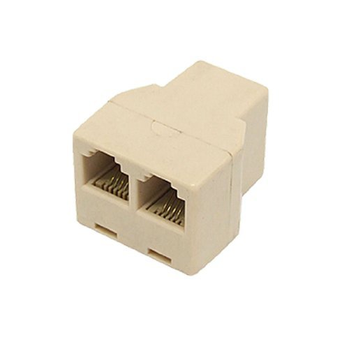 Water & Wood Rj-11 Female To 2 Female Phone Cat3 Connector Jack Adapter Splitter