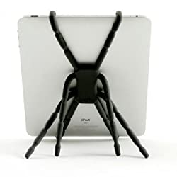 Shopaholic Spider Podium Tablet iPad Galaxy Tab Holder Stand - White - in Car Vehicle Stand or Home Desk Office Display for for iPad Mini /iPad 2/3/4 / iPad Air
