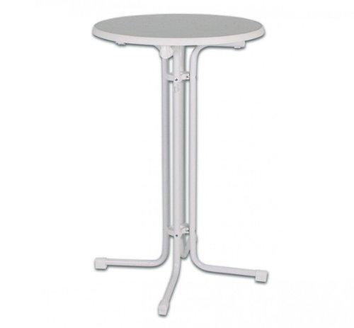 Stehtisch-Partytisch-Werzalit-Platte-klappbar-Tisch-hhenverstellbar-wei