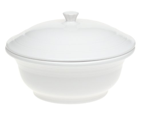 Fiesta 70-Ounce Covered Casserole, White