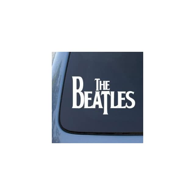 The BEATLES Band Logo   6 WHITE   Vinyl Decal WINDOW Sticker   NOTEBOOK, LAPTOP, WALL, WINDOWS, ETC.