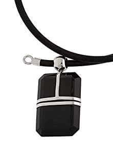 Crystal Rectangular Pendant From the Crystal Collection Designed By Mauricio Serrano For Basic Jewelry