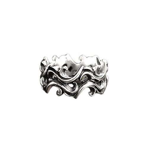 シルバーリング 指輪 メンズ シルバーアクセサリー アラベスク タトゥー r0591 【18号】