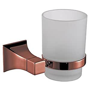 Bathroom accessories solid brass tumbler holder rose gold for Rose gold bathroom decor