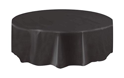 Nappe ronde noire en plastique