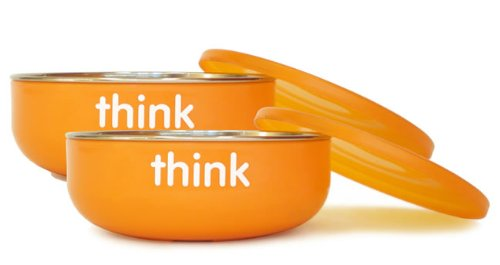 Low Profile Baby Bowl in Orange Quantity: 1 bowl