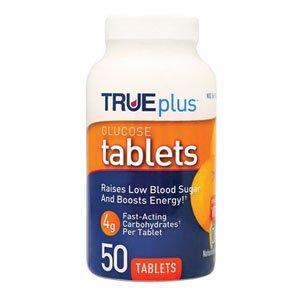 Trueplus Glucose Tablets 50 Count, Orange [Box Of 50]