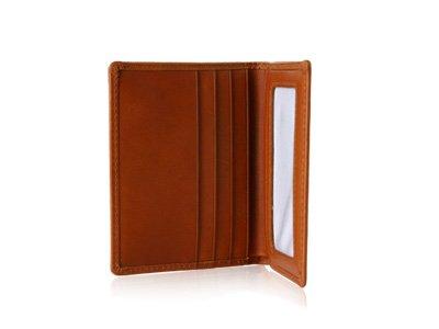 Rich Tan Brown Leather Bifold Wallet