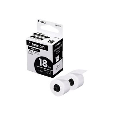 カシオ計算機 メモプリ専用テープ 18ミリ白 1箱(2巻入) XA-18WE/61891845