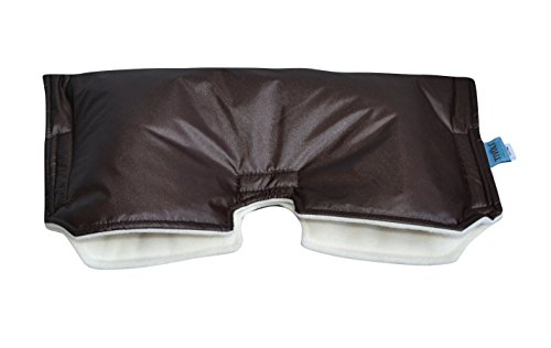 Tivoli Couture Universal Stroller Handmuff/Hand Warmer, Brown/Cream