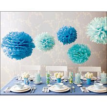 Martha Stewart Crafts Pom Poms, Blue, 2 Sizes