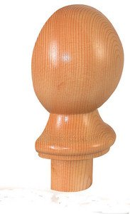 Pine Half Ball Newel Cap