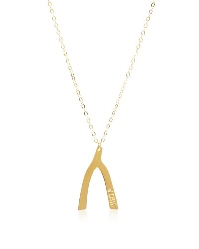 Miriam Merenfeld 18K Gold-Plated Wish Bone Necklace