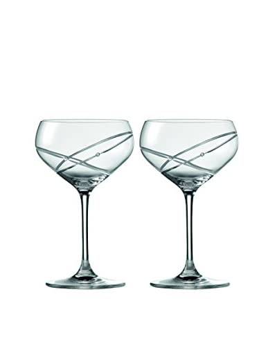 Royal Doulton Set of 2 Promises With This Ring Cocktail Glasses