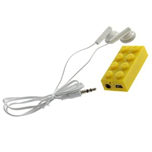 YKS USB Mini MP3 Player Support Up To 8GB Micro SD TF Card (Yellow)