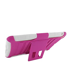 Eagle Cell Rugged Skin Case with Stand for iPad 2 - White/Hot Pink (PRIPADMINISPSTWHHPK) from Eagle Cell