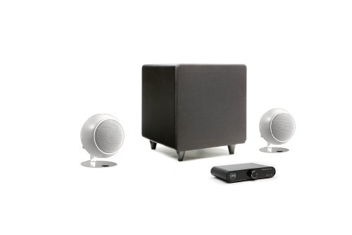 Orb Audio Mini Express Complete 2.1 Home Audio System (Pearl White Gloss)