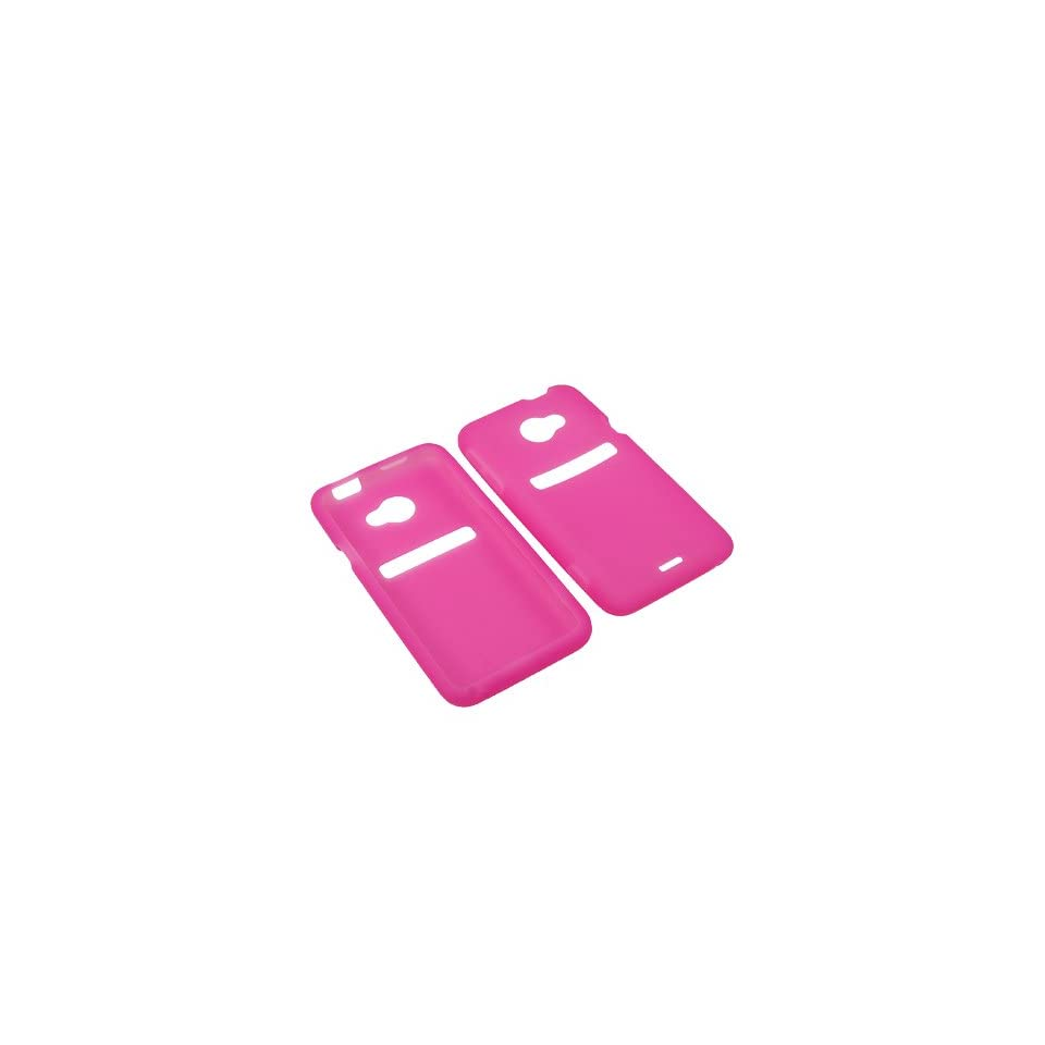 Aimo Wireless HTCEVO4GLTESK005 Soft n Snug Silicone Skin Case for HTC Evo 4G LTE   Retail Packaging   Hot Pink