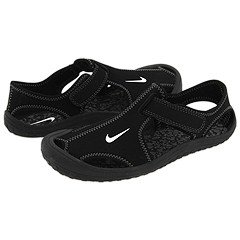 New Nike Boy\'s Sunray Protect Sandal Black/White 2.5