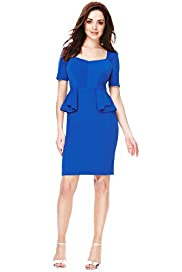 Petite Panelled Peplum Shift Dress with Secret Support™