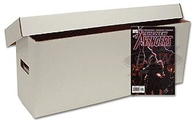 10 Long Comic Book Cardboard Storage Boxes
