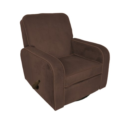 The Rockabye Glider Sunny Recliner, Chocolate Micro Chocolate Brown