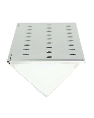 Charcoal Companion Stainless Steel V-Shape Smoker Box For Gas Grills (Long) - CC4066 (Smoker Grill Chip compare prices)