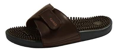 Kenkoh, la sandale de massage de réflexologie japonaise pour hommes et femmes, marron, Taille EU 37