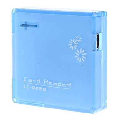 Zclall-In-1 Hi-Speed Usb 2.0 Card Reader For Ms/M2/Sd/Mmc/Xd/Tf/Mini Sd Card , Blue