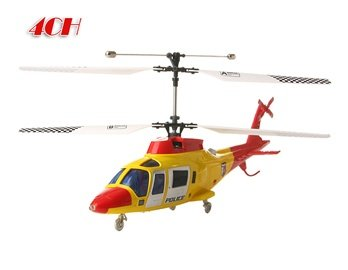 G.T Model 5887 4 Channel PVC Remote Control Helicopter (Yellow)
