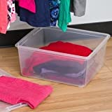 IRIS 20-Quart Modular Sweater Box, Clear