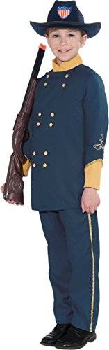 Union Officer Child Costume Kids Boys Soldier Battle Play Theme Halloween Party