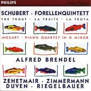 Schubert: Trout quintet Mozart: Piano Quartet In G Minor by Alfred Brendel, Thomas Zehetmair, Tabea Zimmermann, Richard Duven and Peter Riegelbauer