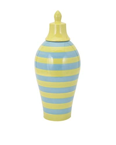 Large Savannah Blue/Yellow Striped Vase