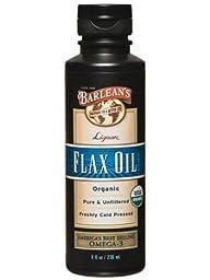 Barlean\'s Organic Oil Lignan Flax Oil 8 oz