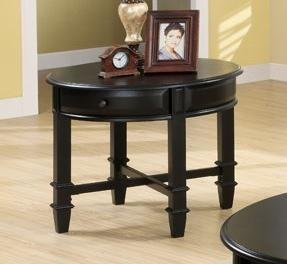 Cheap Austine End Table in Black Finish by Coaster Furniture (B004ZJ0KCA)