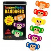 Accoutrements Rainbow Monkey Bandages front-277112