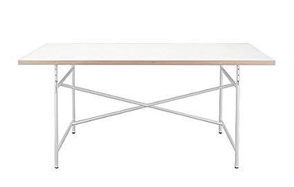 Uomo + Set di scrivania sedia uova Turtle - scrivania piano del tavolo 120 x 70 cm bianco e bianco con struttura bianca e + sedia girevole Turtle Möbel - Richard Lampert