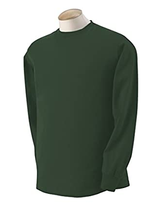 Adult Heavy Cotton HD Long-Sleeve T-Shirt (Forest Green) (Small)
