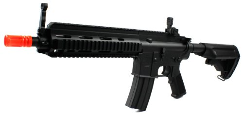 Double Eagle M804A1 614 Electric Airsoft Gun Can Fire Semi & Full Auto Fps-315 W/ Retractable Stock, High Capacity Magazine, Gun Sling