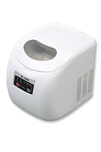 ... Eros IM12W - Compact Counter Top Mini Ice Maker 12Kg per Day - White