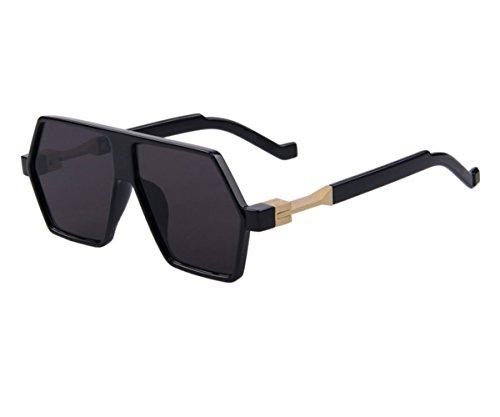 Konalla Personalized Irregular Polygon Tinted Flat Top Lens Sunglasses C1