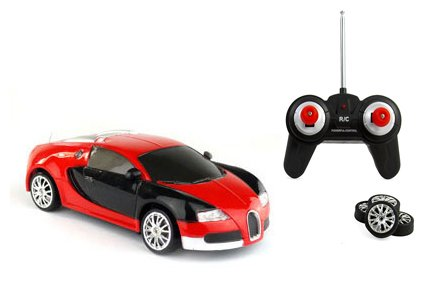 Liberty Imports Super Fast Drift Red Veyron R/C Sports Car Remote Control Drifting Race Car 1:24 + Headlights, Backlights, Side Lights + 2 Sets of Tires (Drifting Rc Car compare prices)