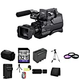 Sony HXRMC2000U Shoulder Mount AVCHD Camcorder + 32GB SDHC Class 10 Memory Card + Extra NP-FP970L Battery + 37mm 3 Piece Filter Kit + Full Size Tripod + Deluxe Extra Large Video Bag + Lithium Ion External Rapid Battery Charger + Mini Tripod Kit + USB SDHC Reader + Memory Wallet