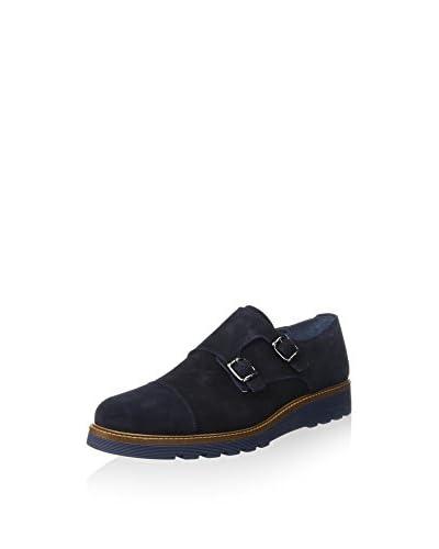 ANDERSON SHOES Zapatos Monkstrap Azul Oscuro