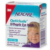 Nexcare Opticlude Orthopic Eye Patches, Junior Size - 20 count